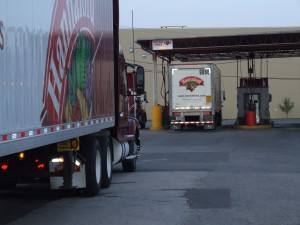 Hannaford Trucks Line Up For Fuel at Kris-Way